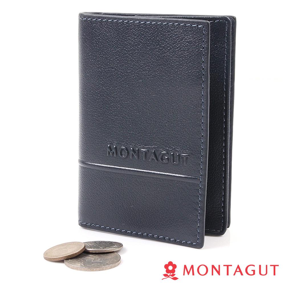 【MONTAGUT夢特嬌】頭層牛皮真皮 名片夾(5卡 1綜合卡夾)