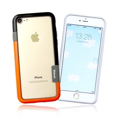 VXTRA日韓糖果風 iPhone 8/iPhone 7撞色邊框軟式手機殼(發條...