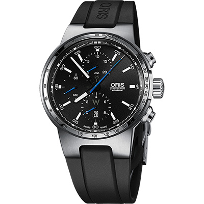 Oris Willimas F1賽車系列計時機械錶-黑/44mm