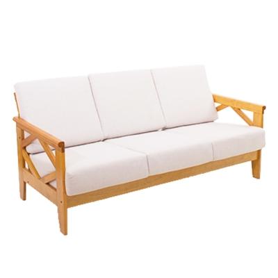 日木家居 Teddy泰得實木三人沙發