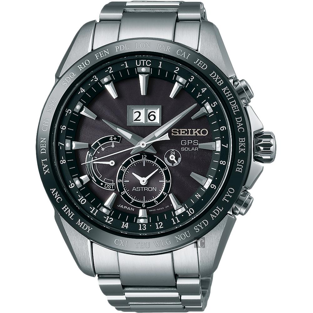 (無卡分期18期)SEIKO精工 GPS 大視窗GPS太陽能衛星定位手錶(SSE149J1)
