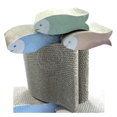 小嘴鯉魚貓抓板板30*22cm顏色隨機