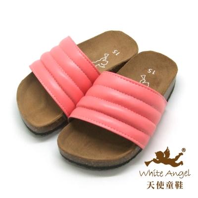天使童鞋 米羅貝殼親子拖鞋 (超大童) 西瓜紅 J775