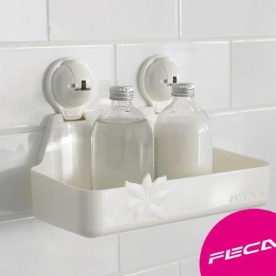 FECA非卡-無痕強力吸盤 芙洛拉木蘭置物盒(白)