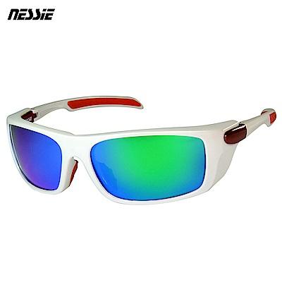 Nessie尼斯眼鏡 專業運動偏光太陽眼鏡-極地白