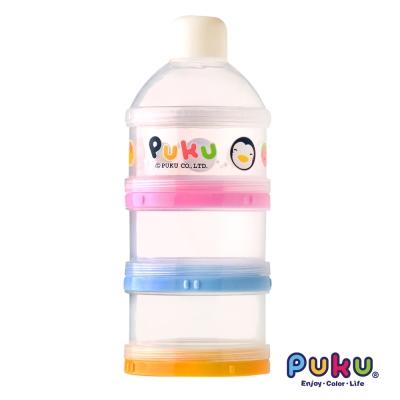 PUKU藍色企鵝 彩色三層奶粉盒