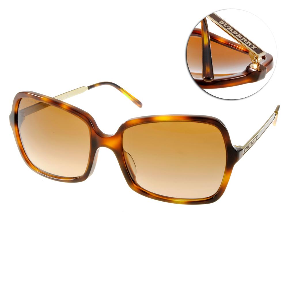 BURBERRY太陽眼鏡 經典大框/人氣琥珀#BU4127A 331613