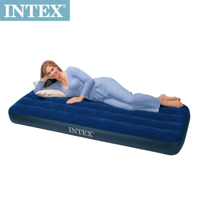 INTEX 單人型植絨充氣床墊-寬76cm (68950)