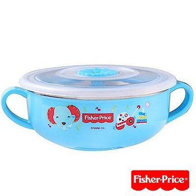 費雪Fisher-Price-雙耳不袗兒童餐具碗-350ml(粉/綠/藍/黃)