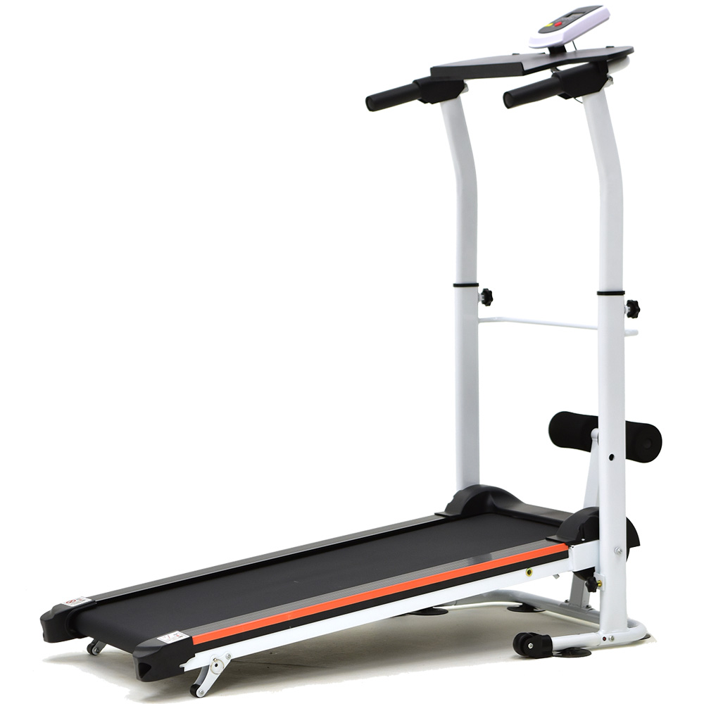 【SAN SPORTS】雙飛輪2坡度跑步機(高低扶手+仰臥起坐板)