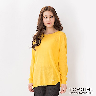 【TOPGIRL】針織上衣-黃