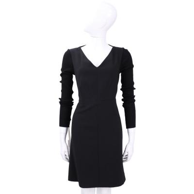 PINKO 黑色V領長袖洋裝