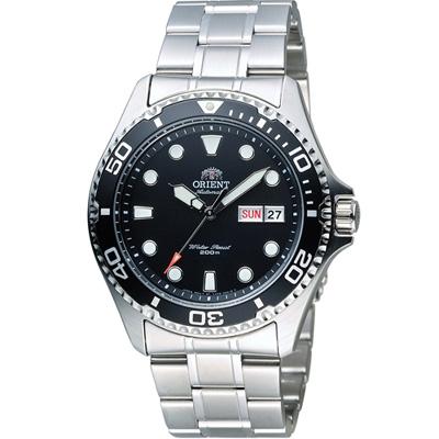 ORIENT 東方錶 WATER RESISTANT系列 200M潛水機械錶-黑/41mm