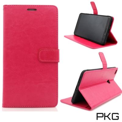 PKG Xiaomi 小米MAX2皮套側翻式皮套-經典皮革系列-玫瑰紅