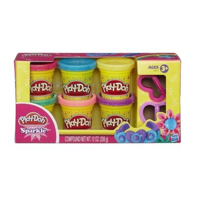 培樂多Play-Doh 創意DIY黏土閃亮黏土六色黏土組 A5417
