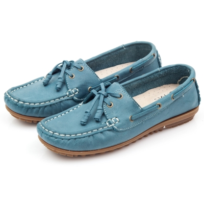 G.Ms.MIT系列-好穿再進化~超軟Q全真皮帆船鞋-藏青藍