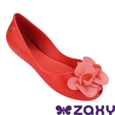 Zaxy 巴西 女 故事花語平底娃娃鞋-紅色/粉色