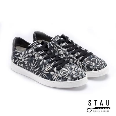STAU| 夏日風情 麻布休閒鞋-黑色