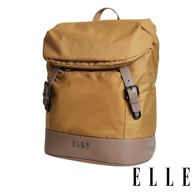 ELLE 時光旅人系列-大容量IPAD/13吋筆電休閒後背包-日光駝