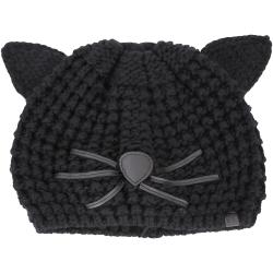 KARL LAGERFELD Choupette 貓咪造型粗針織毛帽(黑色)