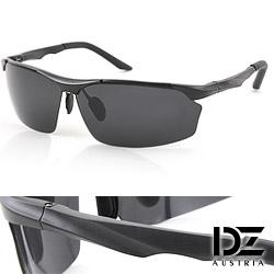 DZ 矚目流線 抗UV 偏光太陽眼鏡墨鏡(酷黑)