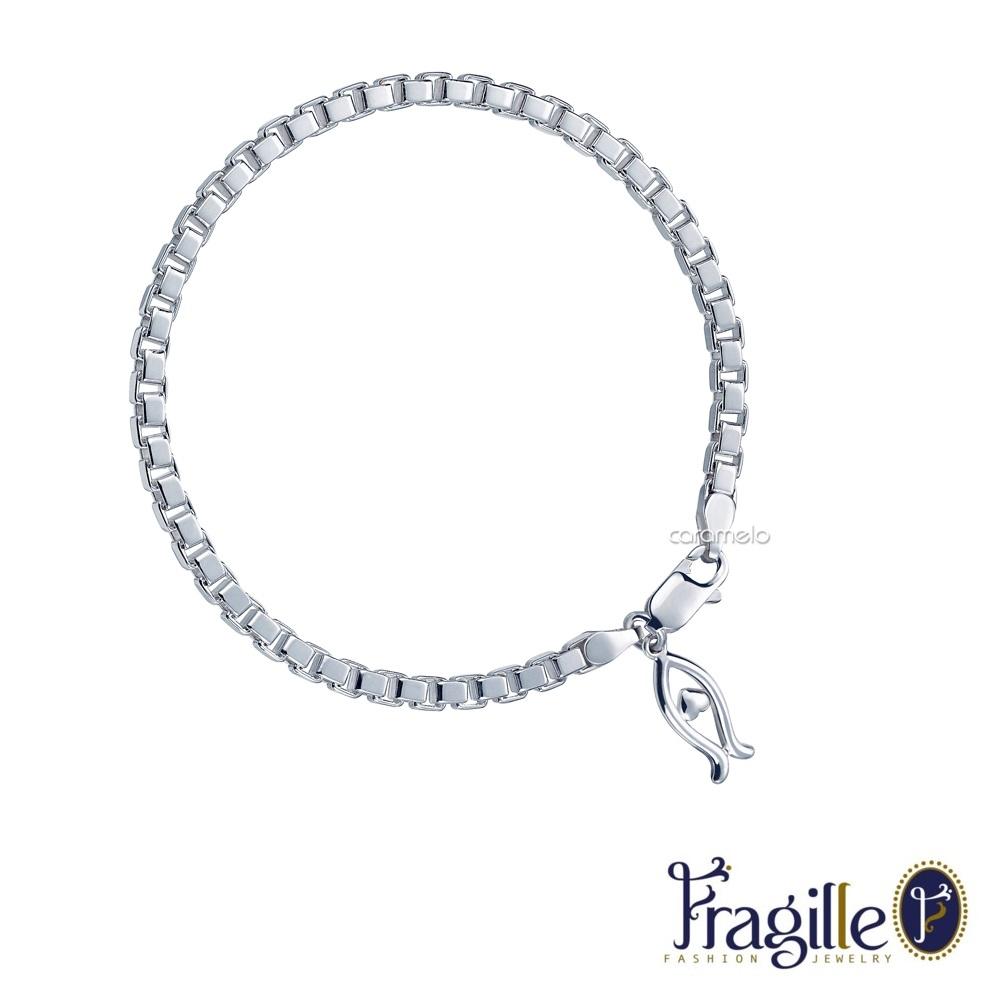 彩糖鑽工坊 愛情魚 銀手鍊 (女手鍊) Fragille系列