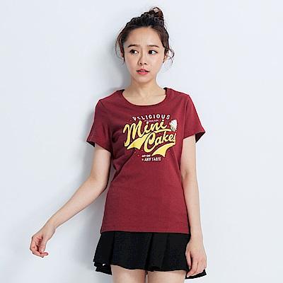 101原創 minicakes短袖T恤上衣-復古紅