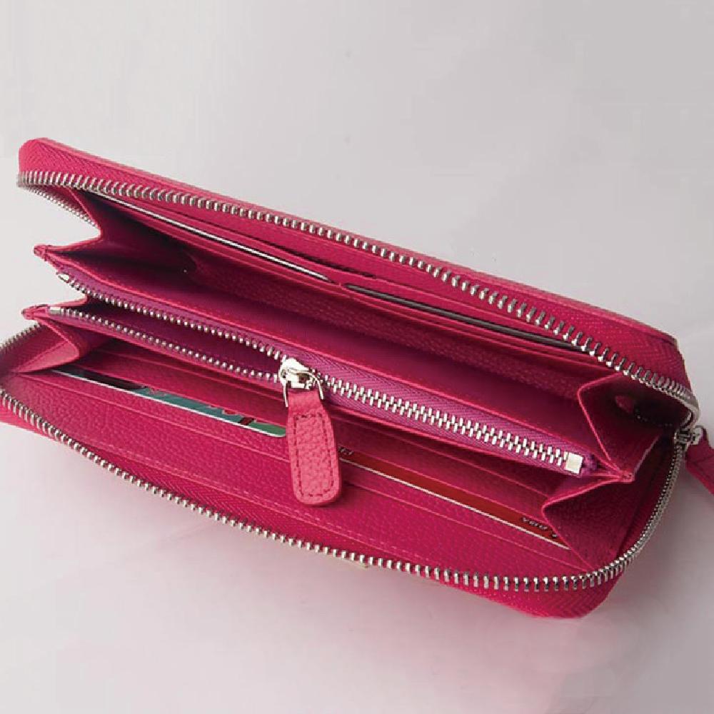 Majacase-女用 真皮拉鍊長夾 皮夾 手拿包 手工皮件 鈔票夾 信用卡夾 女夾