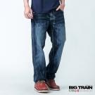 BIG TRAIN 低腰和風印花垮褲-男-深藍