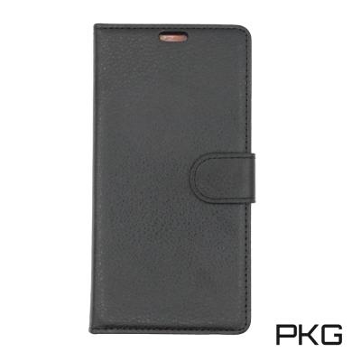 PKG 小米Mix2 側翻式皮套-精緻系列-黑色