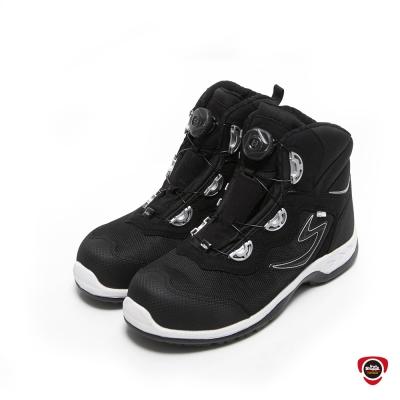IronSteel T-1297快旋鈕鞋扣高筒防水安全鞋-黑