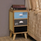 Asllie然木三抽收納櫃/邊櫃/床頭櫃/電話櫃-30x30x58.5cm