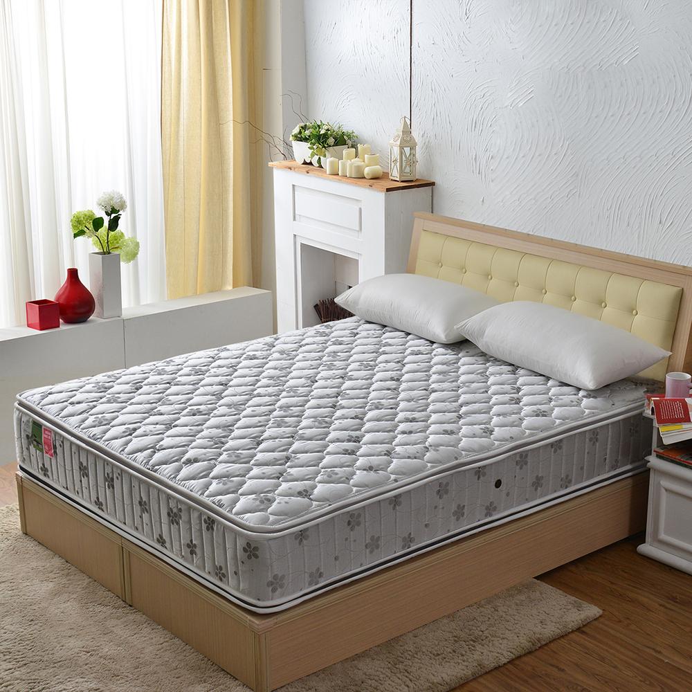 MG珍寶 正四線抗菌除臭竹碳 護邊蜂巢獨立筒床墊 雙人加大6尺 竹碳抗菌防潑水