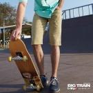 BIG TRAIN 舒活斜紋短褲-男-卡其