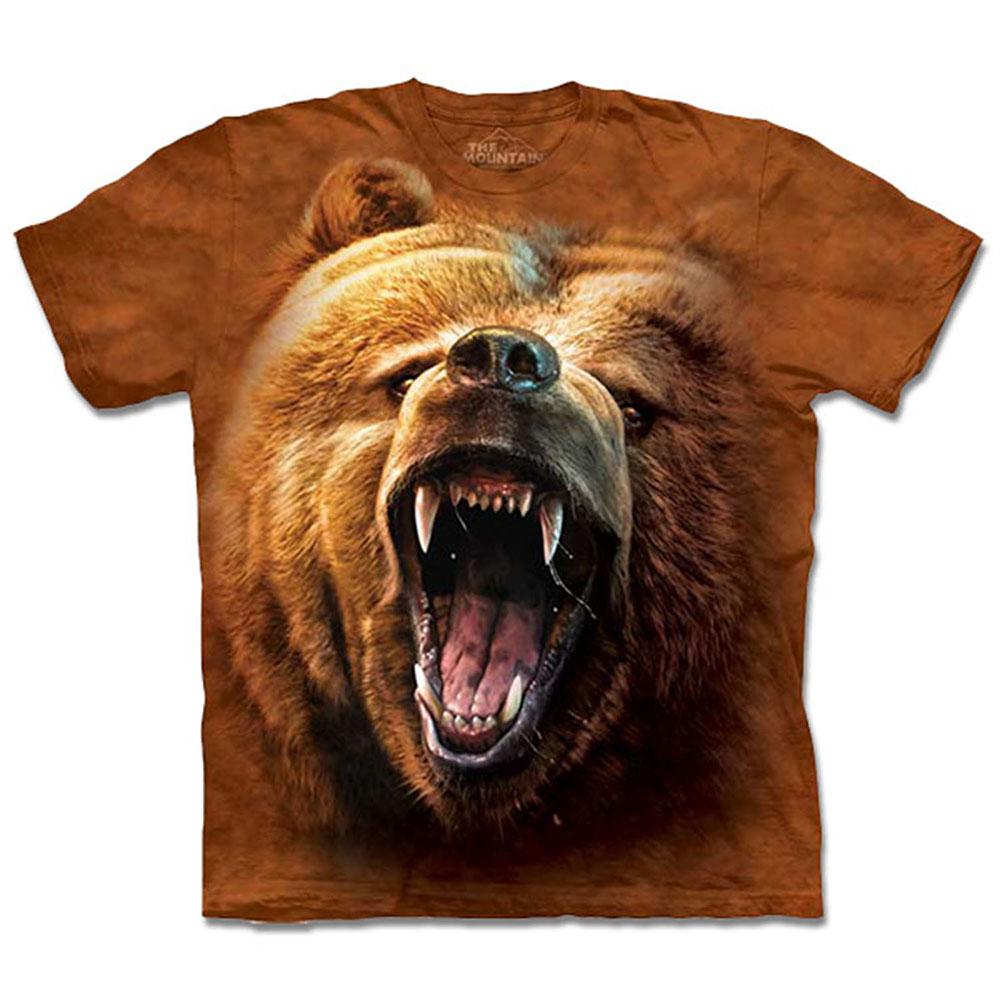 [摩達客]美國進口The Mountain棕熊怒吼T