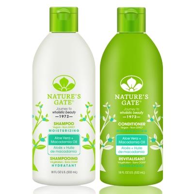 Nature's Gate天然之扉 無基改雙倍蘆薈夏威夷果油植萃保濕洗髮護髮組