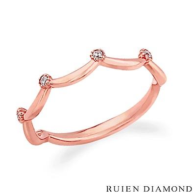 RUIEN DIAMOND 韓國輕珠寶 飾品 配件14K 玫瑰金 戒指 J5775