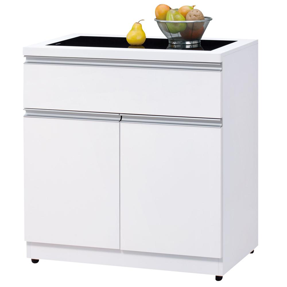 時尚屋素娜白色3尺碗盤櫃