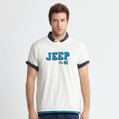Jeep 創意圖騰T恤-白色