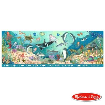 美國瑪莉莎 Melissa & Doug 大型地板拼圖 - 找找看海底動物 48片