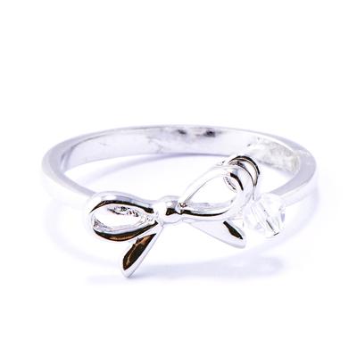 【山本美樹】舞動人生 奧地利水晶戒指 (銀色)