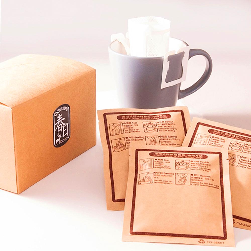 春日咖啡-蘇門達臘—綠寶石曼特寧咖啡豆 濾掛式咖啡(10入/盒)