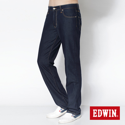 EDWIN COOL RELAX中直筒牛仔褲-男款(原藍)