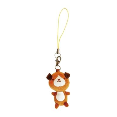 UNIQUE 動物樂園迷你公仔吊飾。小棕狗