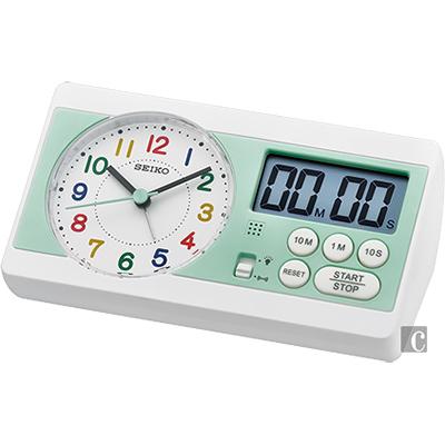SEIKO精工 彩色數字桌鐘-薄荷綠 QHE152W