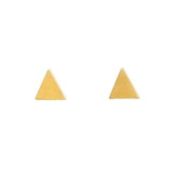 Dogeared 三角形耳環 金色 迷你立體版 附原廠盒