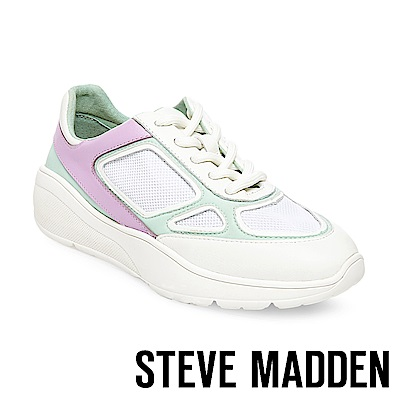 STEVE MADDEN-CURRENT 綁帶拼接休閒鞋-白紫