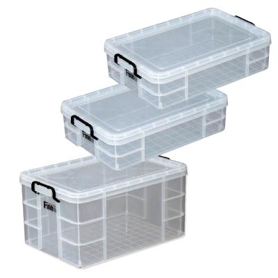[安心收納]強固型圓角整理箱三件組(65Lx1+31Lx2)
