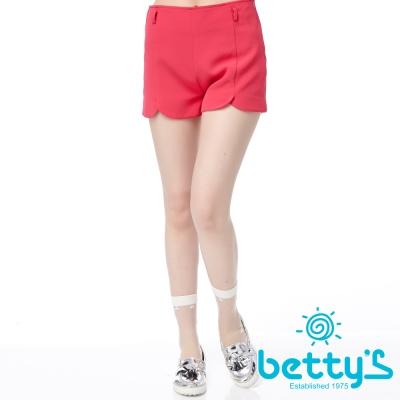 betty-s貝蒂思-花瓣褲管剪裁雪紡短褲-桃色