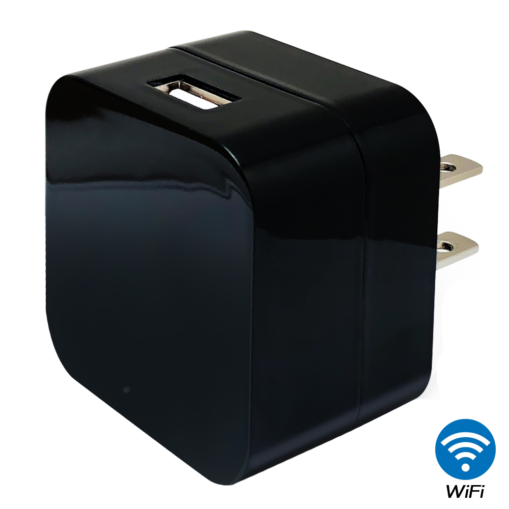 【CHICHIAU】WIFI無線網路高清1080P方塊充電器造型-針孔微型攝影機+影音記錄